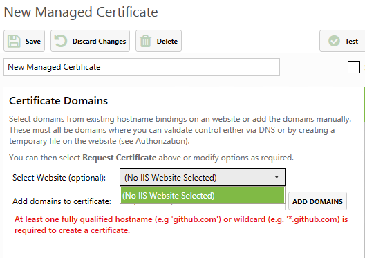 No listed websites? - Question - Certify The Web - Support Community