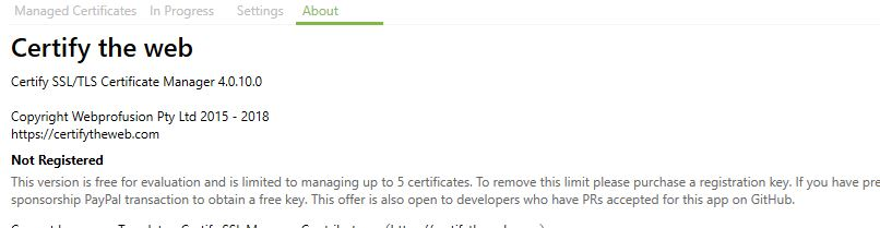 Multiple SSL Certificate issue - Question - Certify The Web